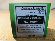 S&B 2921 - .243, 100 grain, S & B Geschosse, Teilmantel