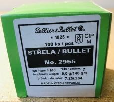 S&B 2955 - .284, 140 grain, S & B Geschosse, Vollmantel-BT